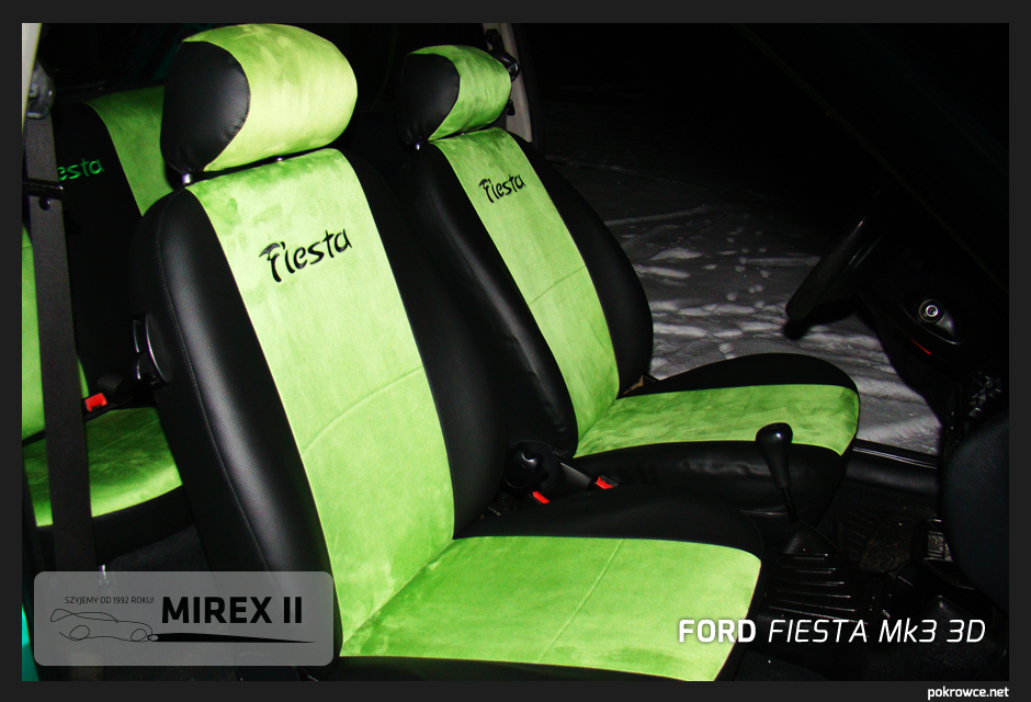 pokrowce zielone ford fiesta mk3 3d