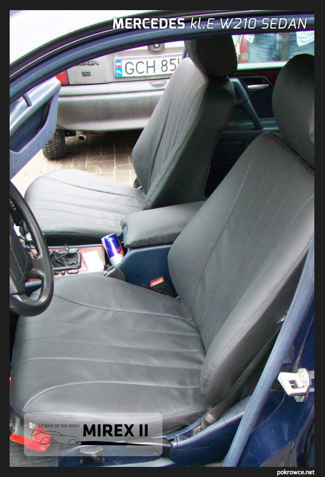 pokrowce skórzane do mercedes e w210 sedan
