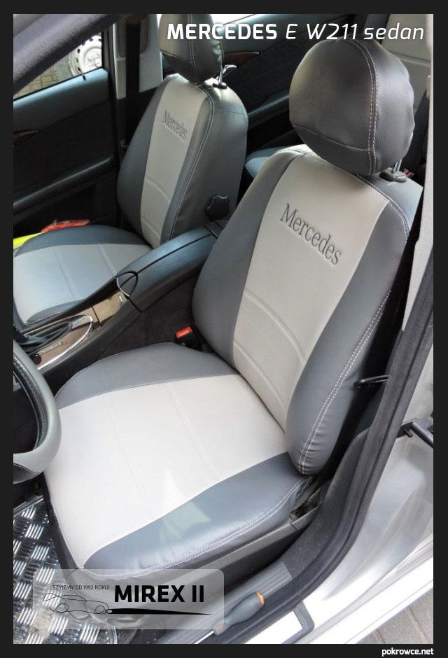 pokrowce skórzane do mercedes e w211 sedan