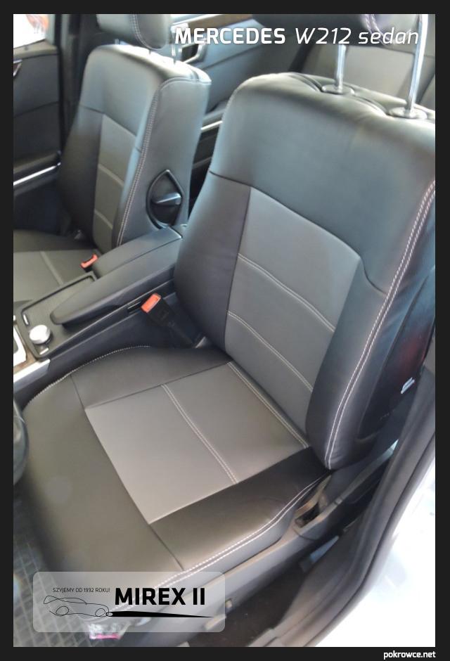 pokrowce skórzane do mercedes w212 sedan