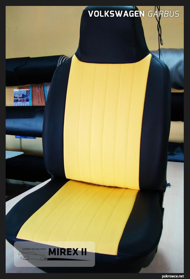 pokrowce do volkswagen garbus żółte