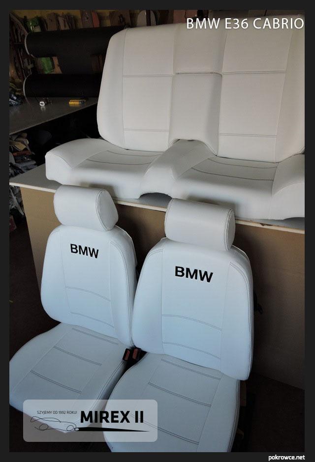 pokrowce jasna skóra bmw e36 cabrio