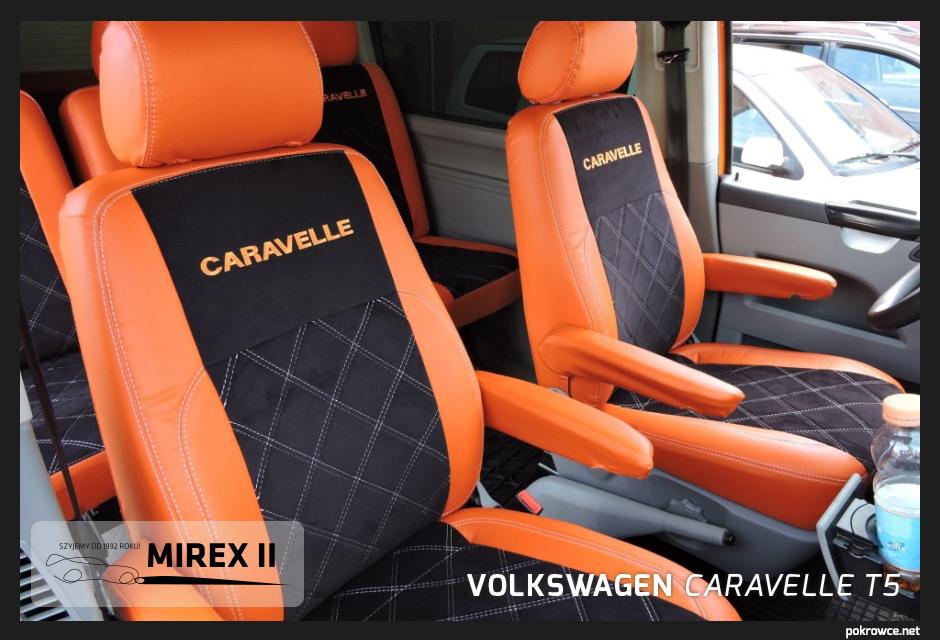 pokrowce ekskluzywne volkswagen caravelle t5