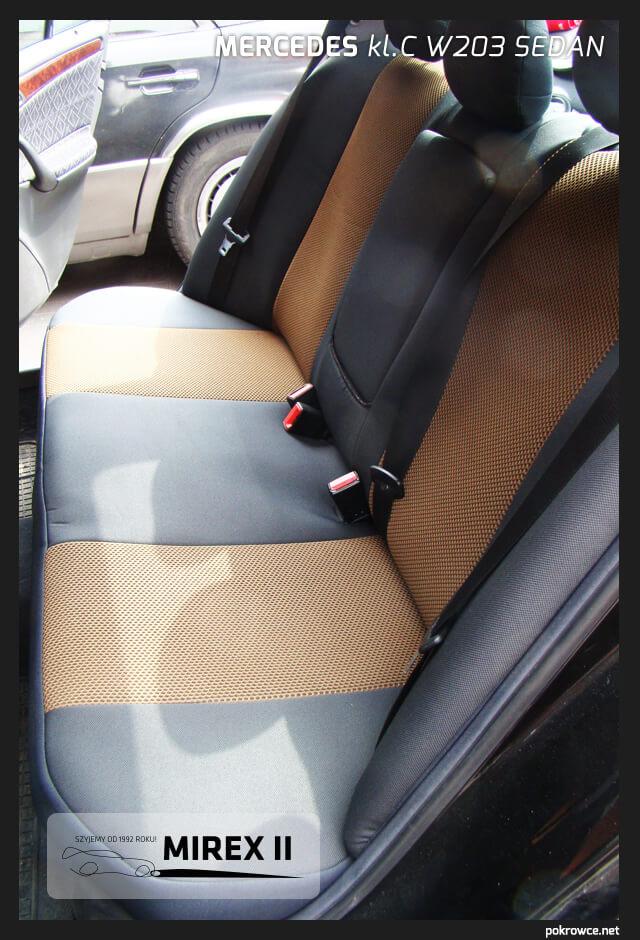 pokrowce czarno żółte do mercedes w203 sedan