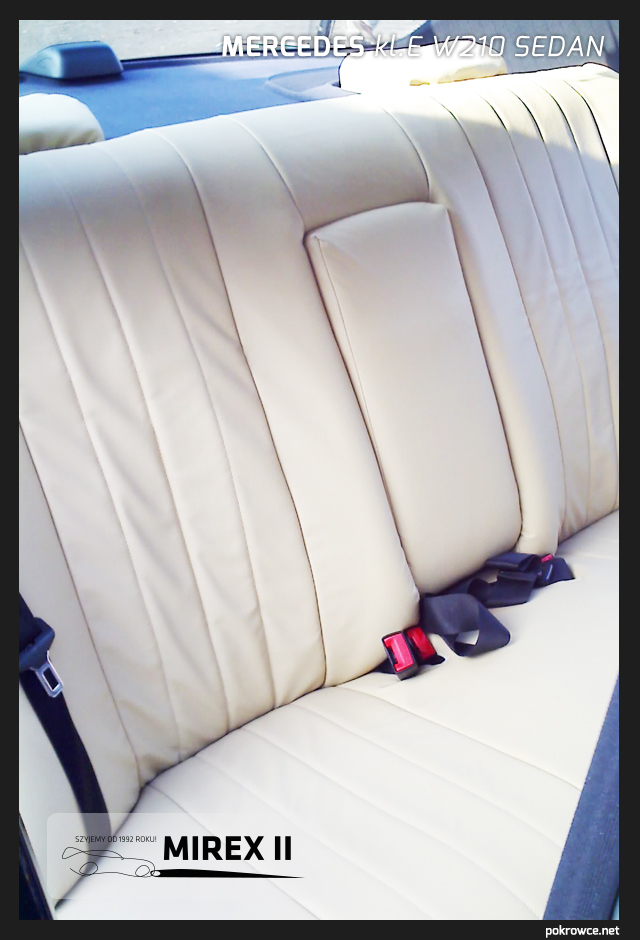 pokrowce skórzane jasne do mercedes e w210 sedan