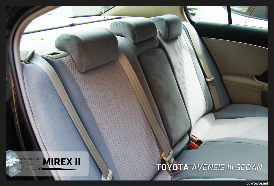 pokrowce do toyota avensis 3 sedan
