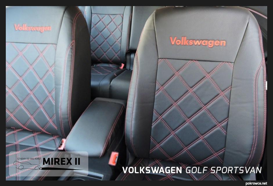pokrowce skórzane do volkswagen golf sportsvan