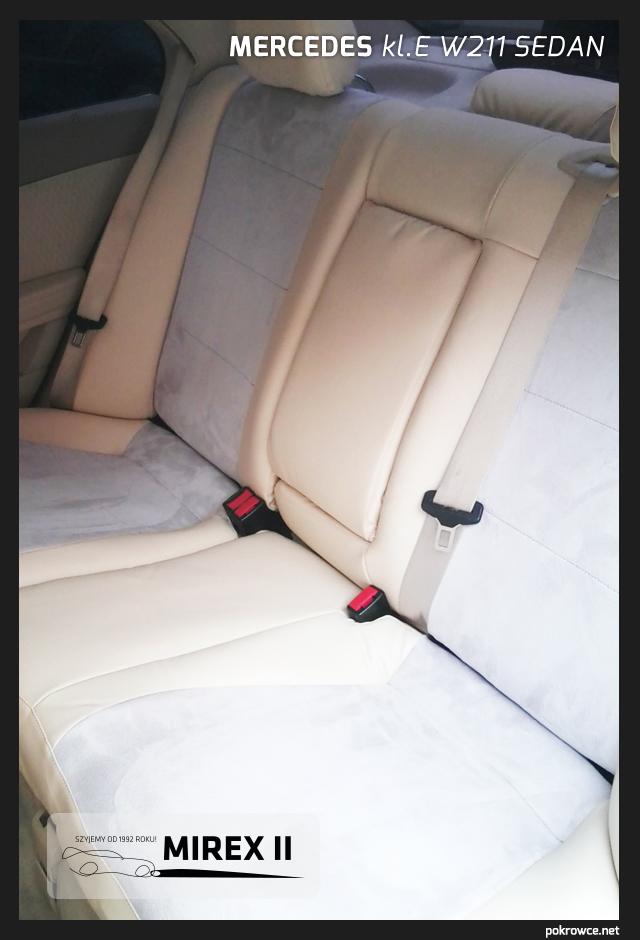 pokrowce jasne do mercedes e w211 sedan