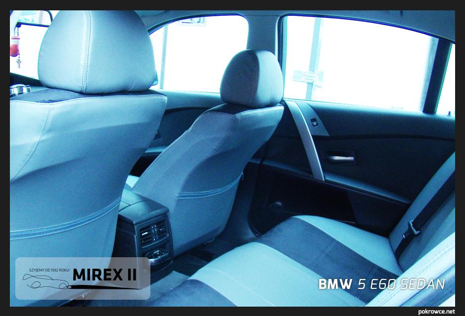 pokrowce bmw 5 e60 sedan