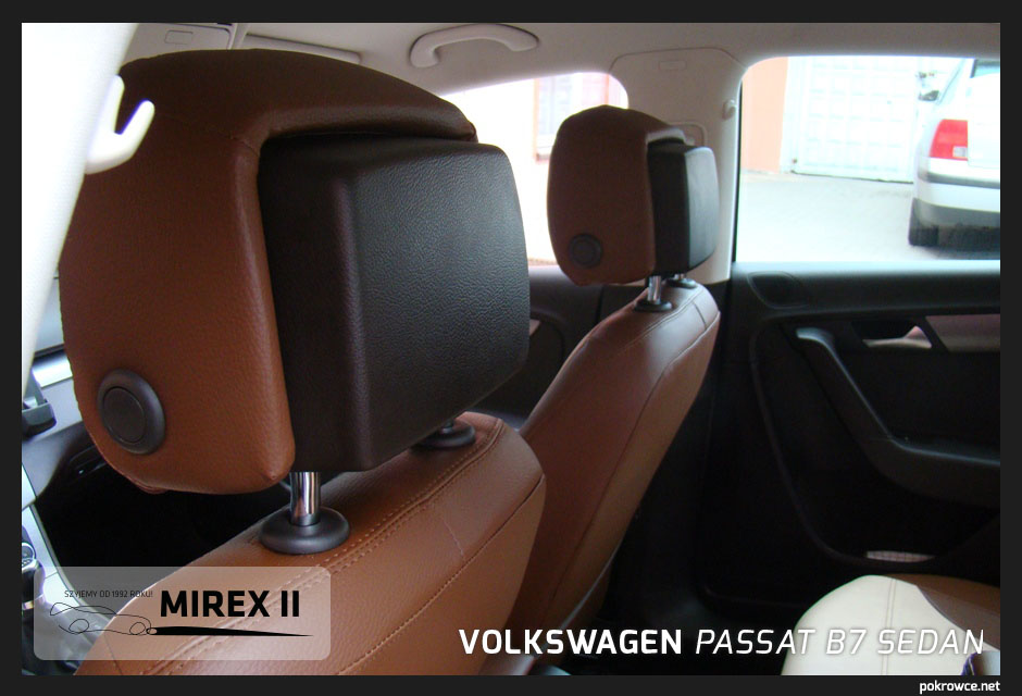 pokrowce skórzane do volkswagen passat b7 sedan