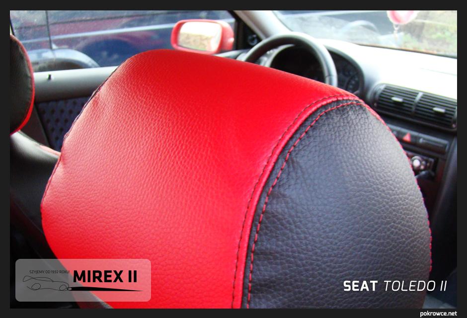 pokrowce czerwone do seat toledo 2