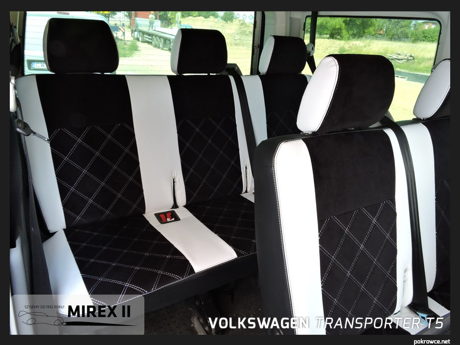 pokrowce ekskluzywne volkswagen transporter t5