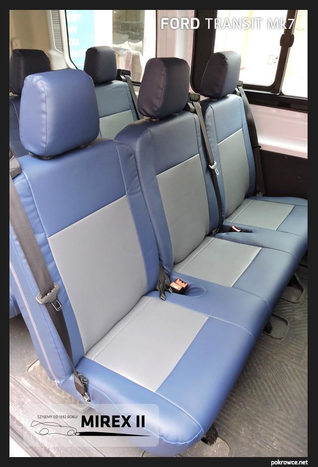 pokrowce niebieskie ford transit mk7