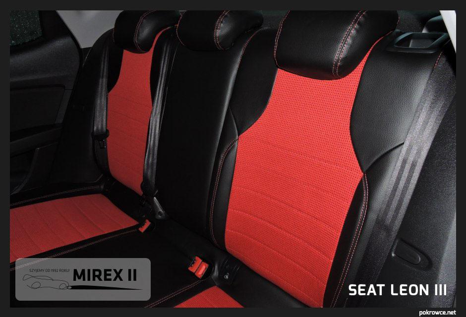 pokrowce czerwone do seat leon 3