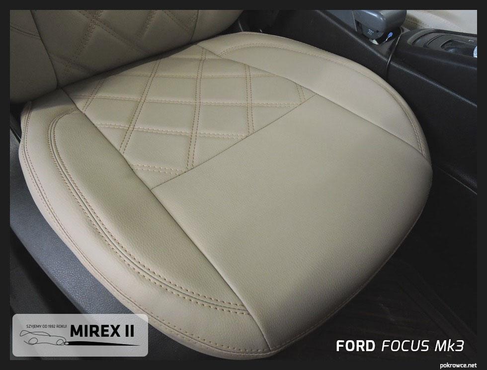 biała skóra pokrowce ford focus mk3